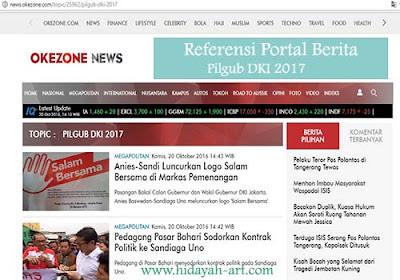 Referensi Portal Berita Pilgub DKI 2017