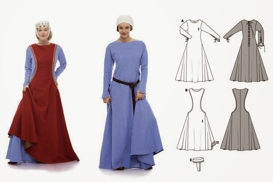 So Steady as She Sews: Sideless Surcoat - Historical Sew