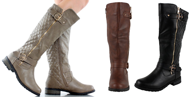West Blvd Atlanta Quilted Riding Boots $18-40 (reg $75)!