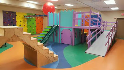 Another view of sensory room with obstacle course