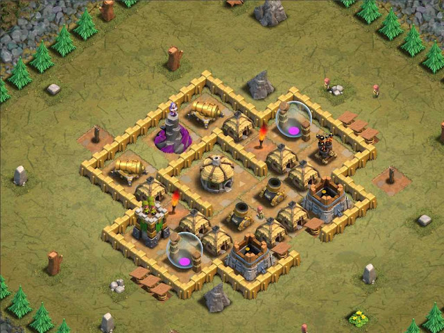 Goblin Base Clash of Clans Collateral Damage