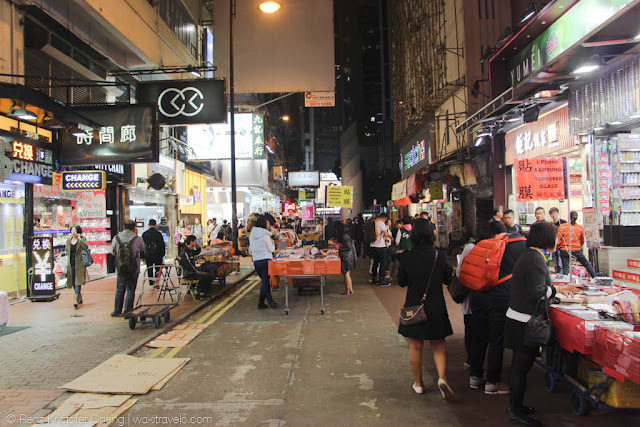 Night Street Market of Causeway Bay, Hong Kong