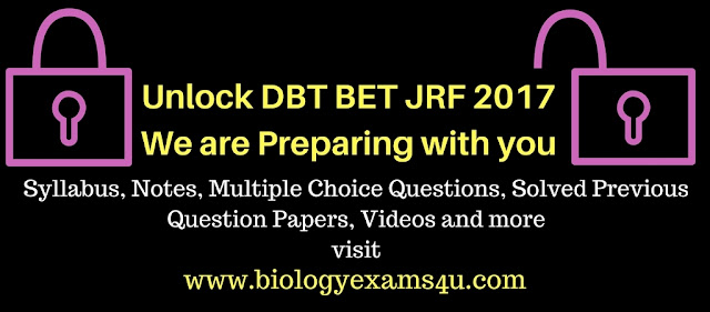 Solved DBT BET JRF previous question papers 2016