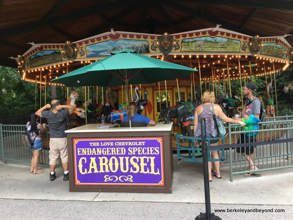 Endangered Species Carousel at Riverbanks Zoo & Garden in Columbia, South Carolina