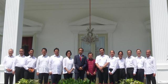 daftar lengkap menteri baru dari reshuffle jilid II oleh pak jokowi