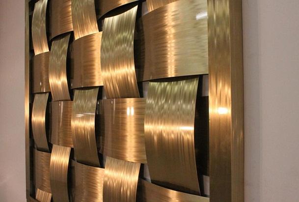 3D Wood wall panels.