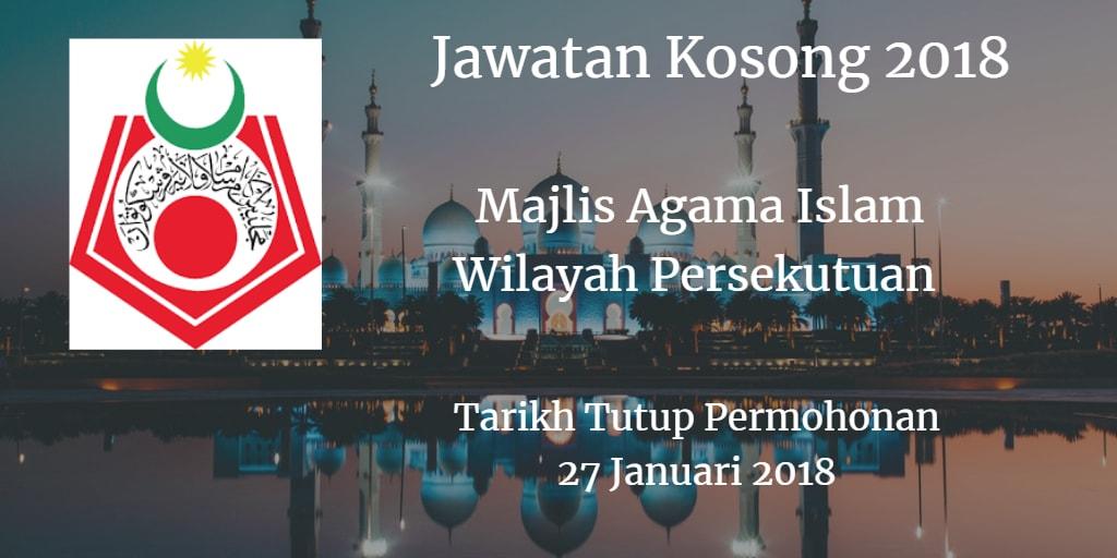 Jawatan Kosong MAIWP 27 Januari 2018