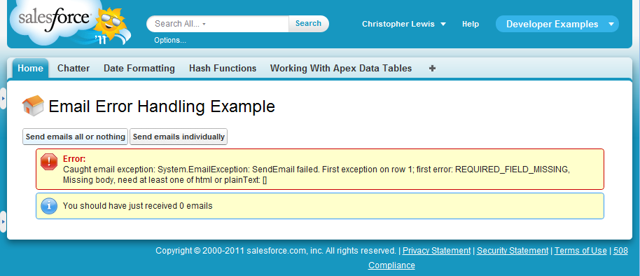 The Christopher Alun Lewis Blog: How to handle exceptions when using