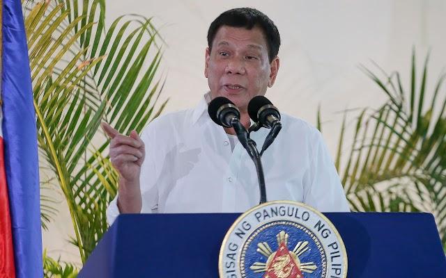 Philippine President Rodrigo Duterte says he will shoot criminals
