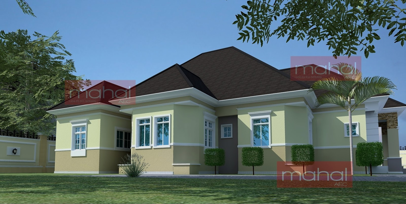 Contemporary nigerian residential architecture festus for 5 bedroom bungalow house plans