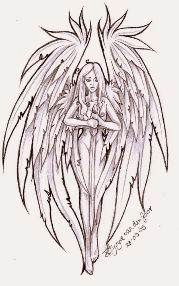 Tattoo Art: very popular angels tattoos
