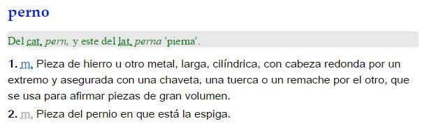 Perno - definición