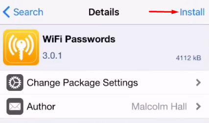 WiFi Network app on iPhone_WiFi-Passkey