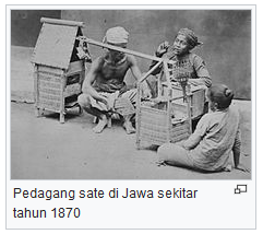 Pedagang sate di Jawa sekitar tahun 1870 gambar wisataarea.com