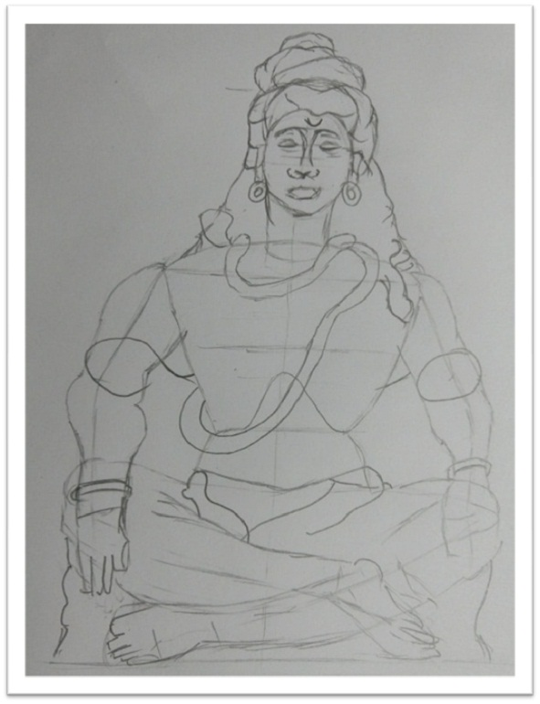 Lord shiva drawing step by step
