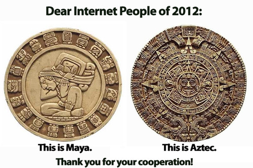 Aztec and mayan difference