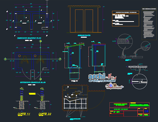 Classrooms School project in AutoCAD