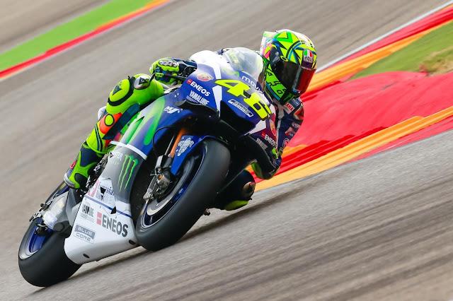 Perjuangan Valentino Rossi di GP Aragon 2016