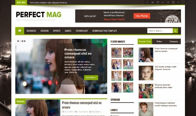 Perfect Mag - Responsive Magazine Blogger Template