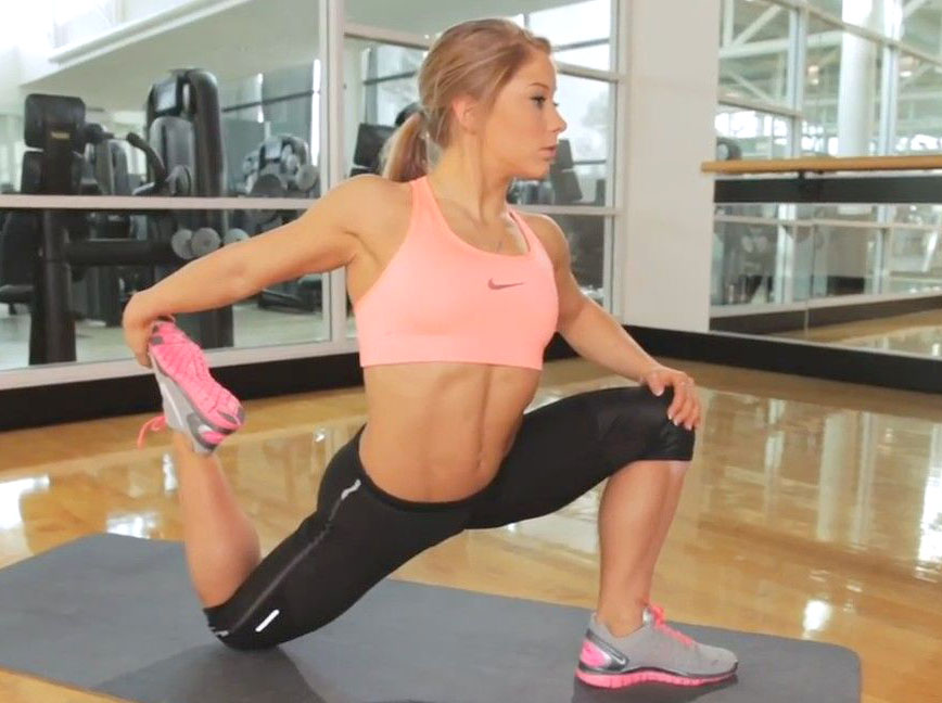 image Shawn johnson yoga stretching