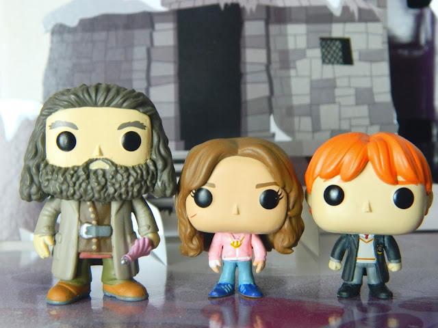 Funko Pocket Pop! Hagrid, Hermione Granger, Ron Weasley