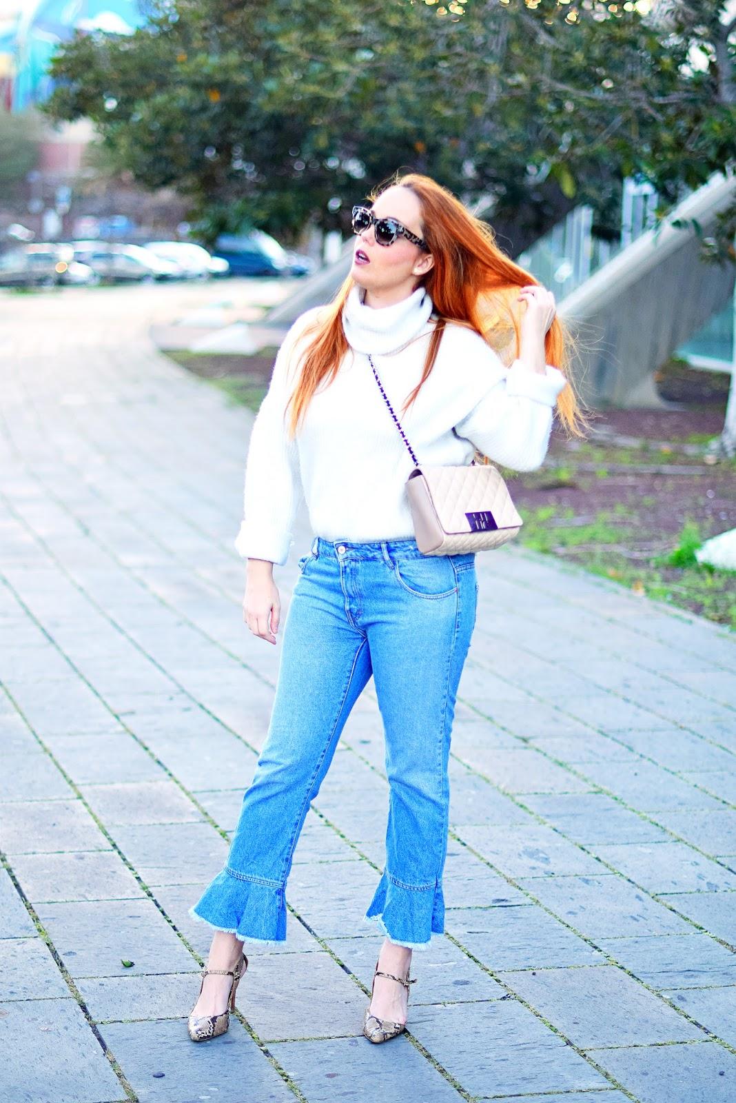 nery hdez, cuello cisne, céline, opticalh, jeans con volante, carolina herrera,