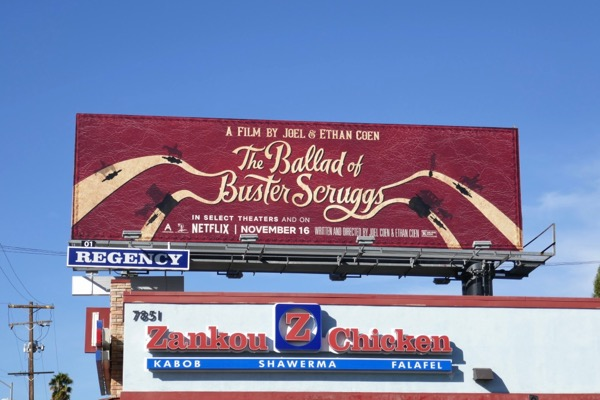 Ballad of Buster Scruggs billboard