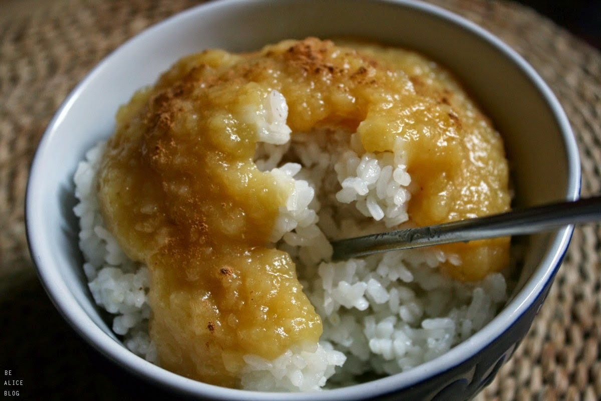 http://be-alice.blogspot.com/2014/10/rice-pudding-with-apple-sauce-vegan.html