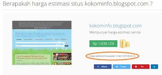 Cara Cek Harga Website atau Blog