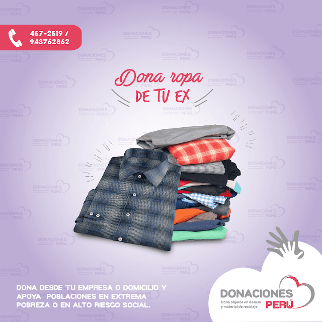 Dona la ropa de tu exDona la ropa de tu ex - Dona ropa - Dona y recicla - Recicla y dona - Donaciones Perú