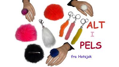 Fede pels fingerringe og øreringe køb hos Hotsjok
