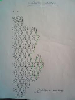 Мак из бисера схема плетения листика мозаичным плетением