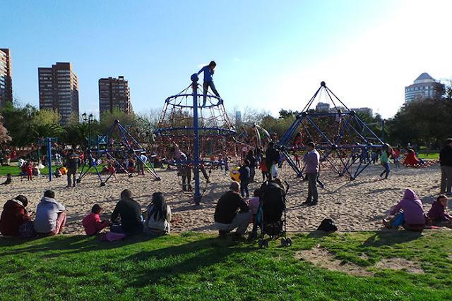 Parque Araucano em Santiago