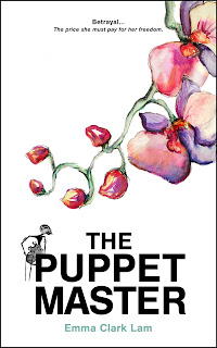 Book cover for 'The Puppet Master', a romantic thriller by Emma Clark Lam