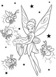 Disney Coloring Pages For Fairies Sowing Magic Powder