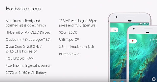 Google Pixel Phones - Specs and Price