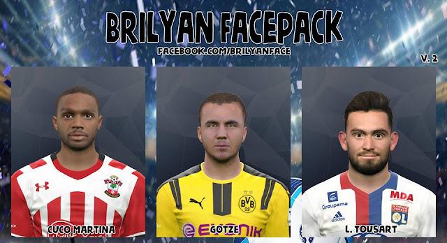 PES 2017 Facepack v2 by Brilyan