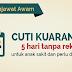 Permohonan Cuti Kuarantin KKM 2018 Tanpa Rekod Untuk Penjawat Awam Dan Swasta.