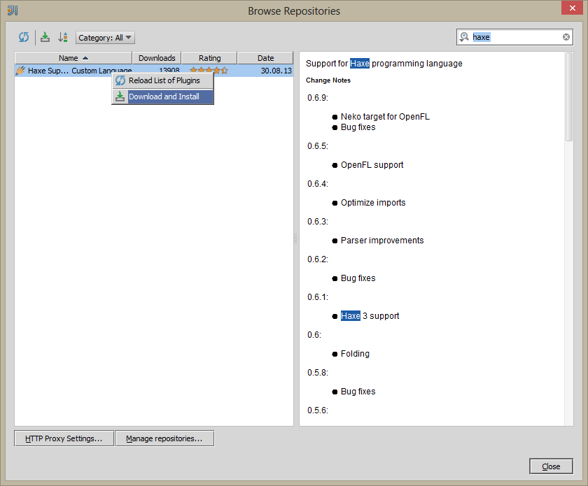 Haxe 3 Tutorials: Setting Up Haxe/OpenFL Project in IntelliJ