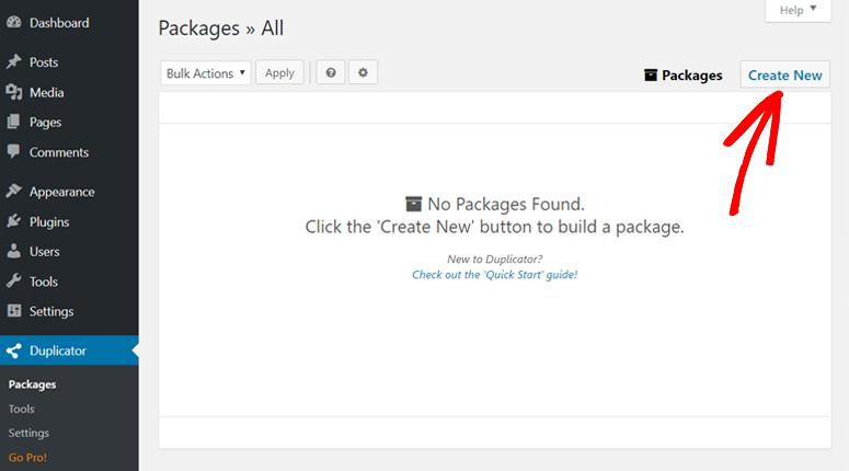 Buat paket duplikator plugin baru