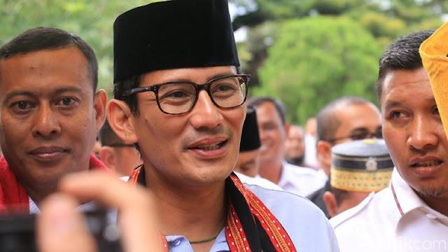 Sandiaga: Prabowo Galau Lulusan SMA Jadi Tukang Ojek