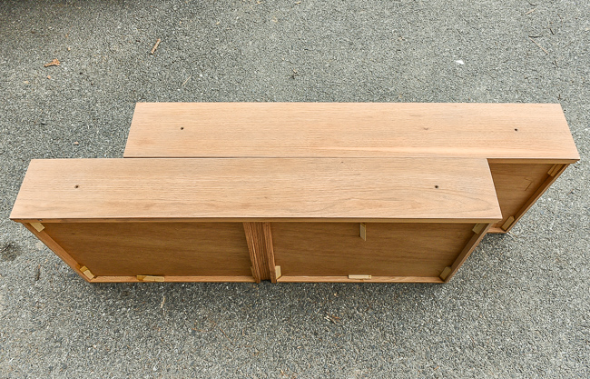 Sanding and refinishing a dresser
