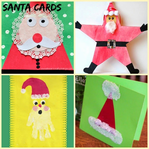 Santa handmade holiday cards