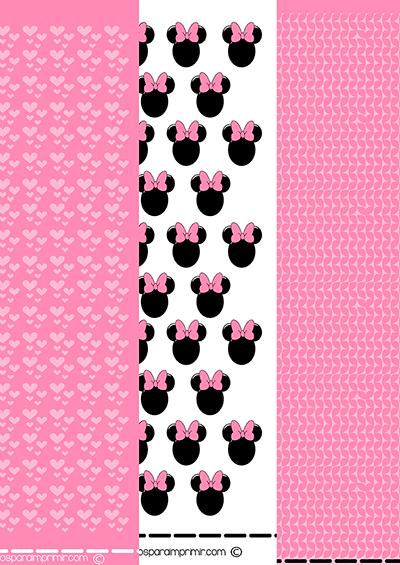 Papel de minnie mouse para imprimir y decorar for Papel decorado rosa