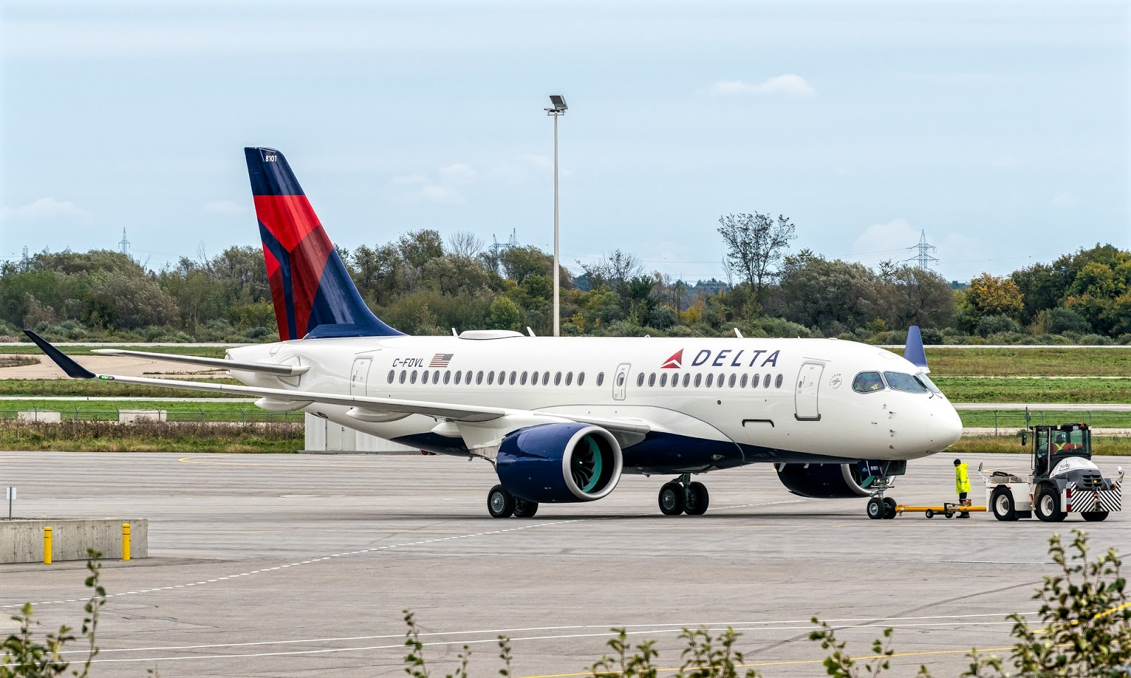 Delta Air Lines Airbus A220-100 October 2018 Delivery, C-FOVL or N101DU
