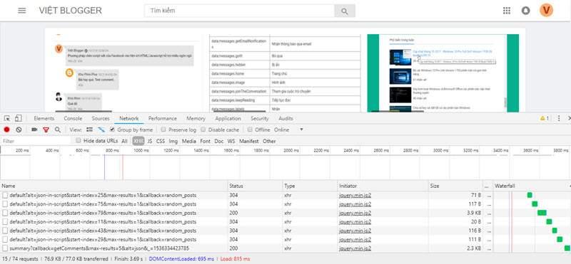 Làm việc với tốc độ tải trang trong Blogspot
