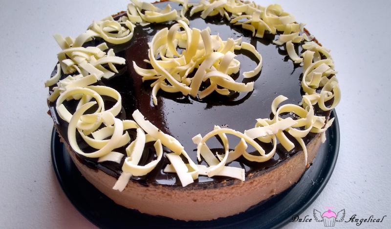 Receta tarta de café y chocolate blanco