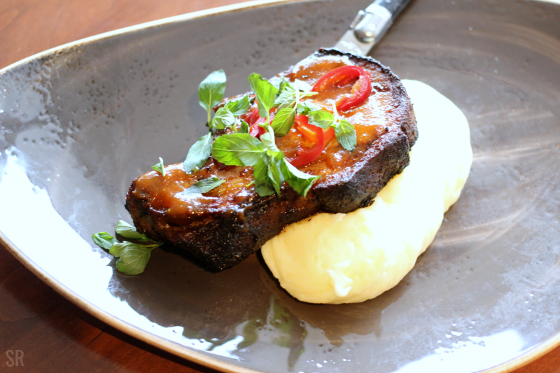 Pork Chop on a plate with potato puree