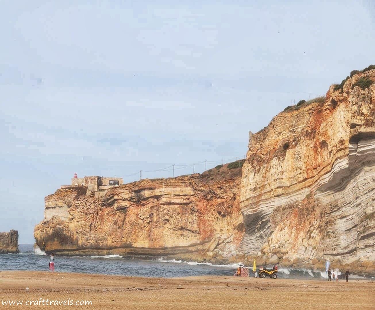 pogoda w Portugalii plaża nad oceanem w Portugalii, plaża w Nazar Portugalia