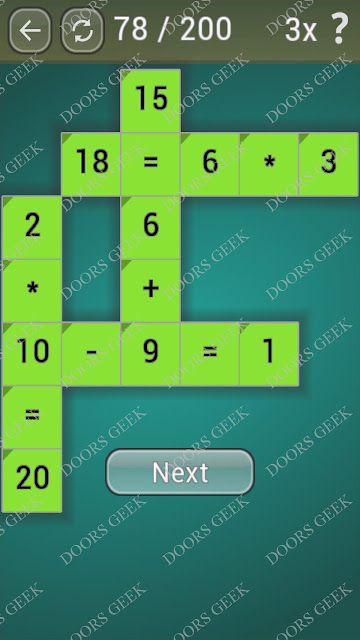 Math Games [Beginner] Level 78 answers, cheats, solution, walkthrough for android